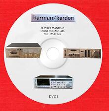 Harman Kardon Service schematics owner manuals in pdf format DVD 1 of 2