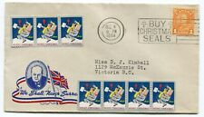 Canada BC Vancouver 1944 WWII Blackout - Patriotic Cachet / Xmas Seals Cover -