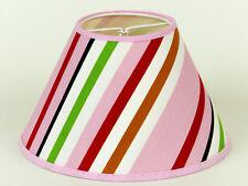 Lampenschirm Retro bunt frische Farben 70er  Jahre Stil Aufsteckschirm e14