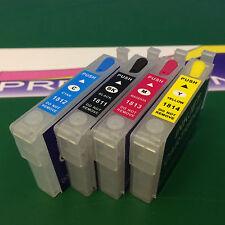 Set Empty Refillable Cartridges Epson XP405 XP405WH XP412 XP415 XP422 XP425 18xl