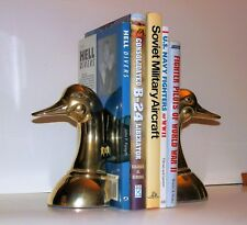 Solid Brass Duckhead Bookends Pair