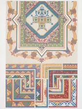 BYZANTIN ART DECO RACINET LITHOGRAPHIE Art Decoratif Turquie Ornements 1870