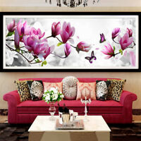 FT- AU Magnolia Butterfly Handcraft DIY 5D Diamond Painting Wall Decor Gift Reli