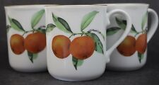 3 Pc. VTG Signed Royal Worcester Evesham Gold Porcelain Coffee Mug Set