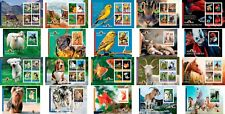 Animals Fauna Birds Cats Dogs Horses Uganda 20 MNH sheets stamp set