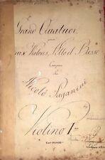 Nicolo PAGANINI (Composer): Grand Quator [MS 34], 1832 Copyist Manuscript