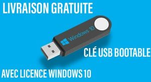 Cle usb bootable windows 10 pro Avec Licence