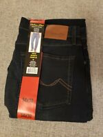 New Urban Star Men's Relaxed Fit Straight Leg Jeans  Dark Blue 34X30