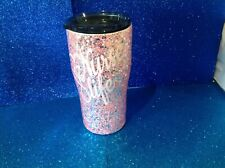 20 Oz Double insulated Stainless Steel glittered tumbler W/lid Nurse Student