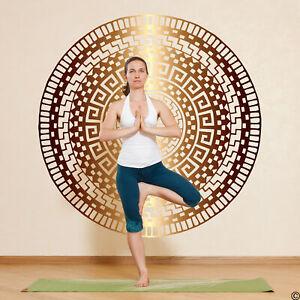 The Izel Mandala wall decal, medallion yoga studio art, home decor and more K813