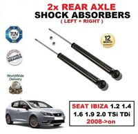 2x REAR SHOCK ABSORBERS SET for SEAT IBIZA 1.2 1.4 1.6 1.9 2.0 TSi TDi 2008->on
