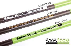 36 x ArrowSocks Archery Arrow Shaft Stickers / Decals / Labels - (Not Wraps)