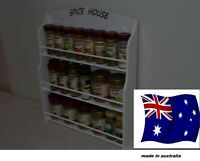 Spice Rack will hold 18 to 36 jars SPICE HOUSE  IN WHITE   Made in Australia