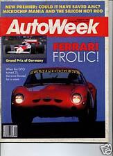 AUTOWEEK AUG 1987 GRAND PRIX OF GERMANY