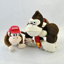"Lot 2 New Super Mario Bros 6-10"" Donkey Kong Diddy Kong Plush Toy Doll -MW634"