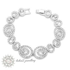 Simulated Diamond/Crystal Hollow-out Design Wedding Bracelet/RB003S