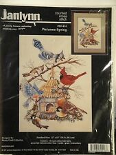 JANLYNN - COUNTED CROSS STITCH KIT - WELCOME SPRING - NIP/UNOPENED - KIT #80-416