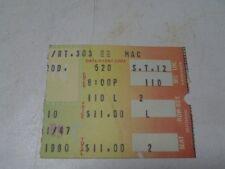 Original 1980 Fleetwood Mac Ticket Stub Richfield Ohio Concert Christopher Cross