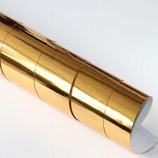 5x DIN A4 Wrapping Folie Chrom Gold 21cm x 29,7cm Autofolie mit Luftkanälen