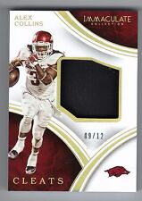 2016 Immaculate Collection Alex Collins Cleats Football card #'d 9/12