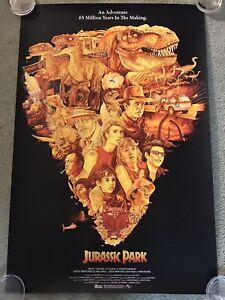 Jurassic Park Movie Print Poster Mondo Steven Spielberg Dinosaurs Tavo Montanez