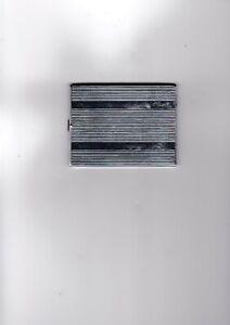 Evans Silver Tone Vintage Cigarette Case, Card Case  Art Deco