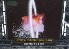 Star Wars 40th Anniversary Base Card #26 Luke Skywalker Destroys the Death Star