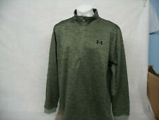 C805 Under Armour Cold Gear Thermal Loose Fit 1/4 Zip Athletic Top Size Large
