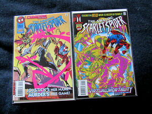 Lot of 2 Amazing Scarlet Spider #1 and #2 (Marvel 1995)