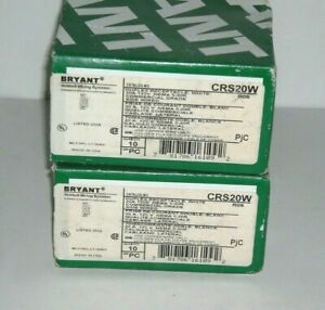 (20) Bryant CRS20W 20A/125V  Commercial Receptacle, White- NEMA 5-20R