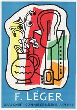 "COOL Fernand LEGER Antique Poster ""Music and Art in the City"" SIGNED Framed COA"