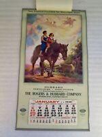 Original 1946 Calendar, Children on Horse Advertising Fertilizer Calendar