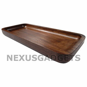 Idon Solid Maple Wood Tray 12.5 Inch Rectangular Wooden, Rounded Corners, SMALL