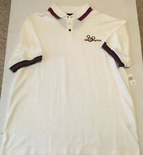 Walt Disney World Mickey Mouse Golf  White Polo Shirt  Size Large