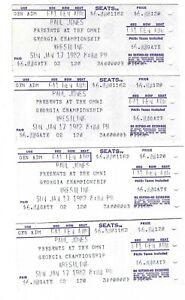 Vintage Lot of 4 Jan 17 1982 Georgia Championship Wrestling Atlanta GA Tickets