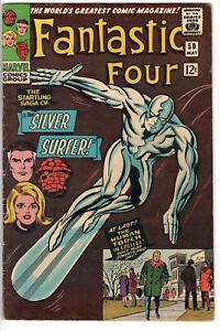 FANTASTIC FOUR #50 (1966) - GRADE 4.5 - SILVER SURFER & GALACTUS GALACTIC BRAWL!