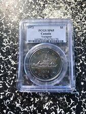 1972 Canada $1 Dollar Voyageur PCGS SP65 Lot#G090 Silver! Nice Toning!