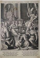 Etching Gravure Acquaforte Reliquia Relic SADELER 1614 Sant'Otho di Babenberg