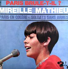 """Mireille Mathieu 7"""" Paris Brule-t-il ? - France (EX/VG+)"""