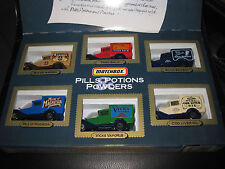 MATCHBOX PILLS POTIONS & POWDERS 6 PCE GIFT  SET MODEL A FORD  OLD SHOP STOCK