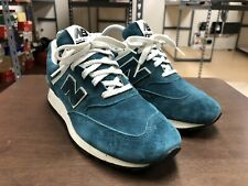 Vintage Women's New Balance 576 Suede Teal Blue White Made In England US Sz 8.5