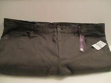 GLORIA VANDERBIL, AMANDA, Muted Green, Classic Fit, Tapered, 24W-Short- NWT