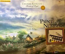 RoseArt Thomas Kinkade Paint by number Emerald Isle Cottage On Canvas w/ Brushes