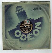 78T M. DARCELYS Disque Phonographe MIMOSETTE Chanté Musette ODEON 165906 RARE
