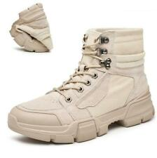Men Desert High Top Ankle Boots Shoes Soft Outdoor Walking Hiking Sports 38-45 L