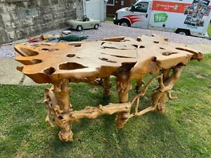 Teak , slab Root Table , AMAZING