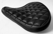 Custom Bates Style Leather Diamond Stitch Large Black Seat Harley Bobber Chopper