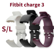 (S/L)For FitBit Charge 3 Strap Replacement Band Metal Buckle Wristband Accessory