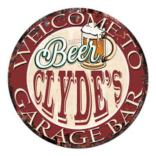 CPBG-0187 BEER CLYDE'S Garage Bar Chic Tin Sign Man Cave Decor Gift Ideas