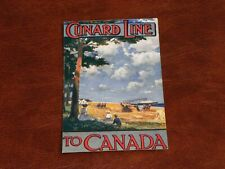 More details for original shipping advertising postcard - cunard line to canada.